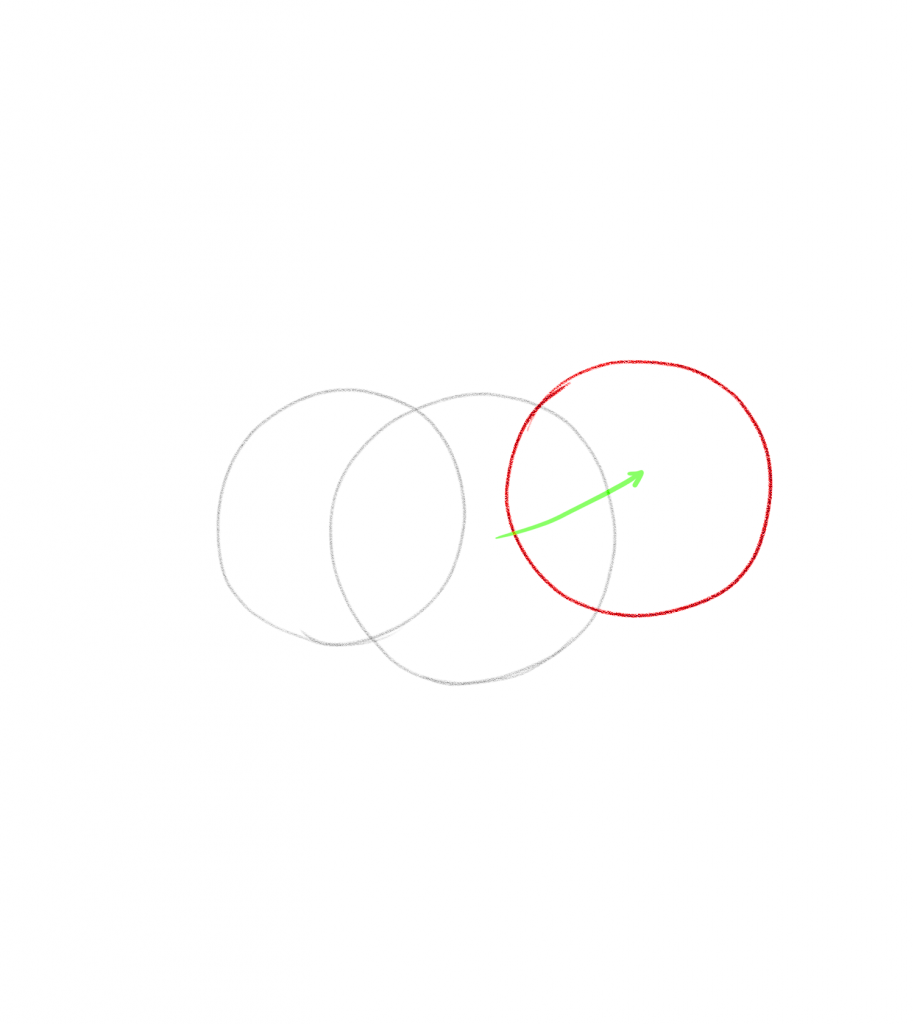 Add a circle of a similar size to the first one.
