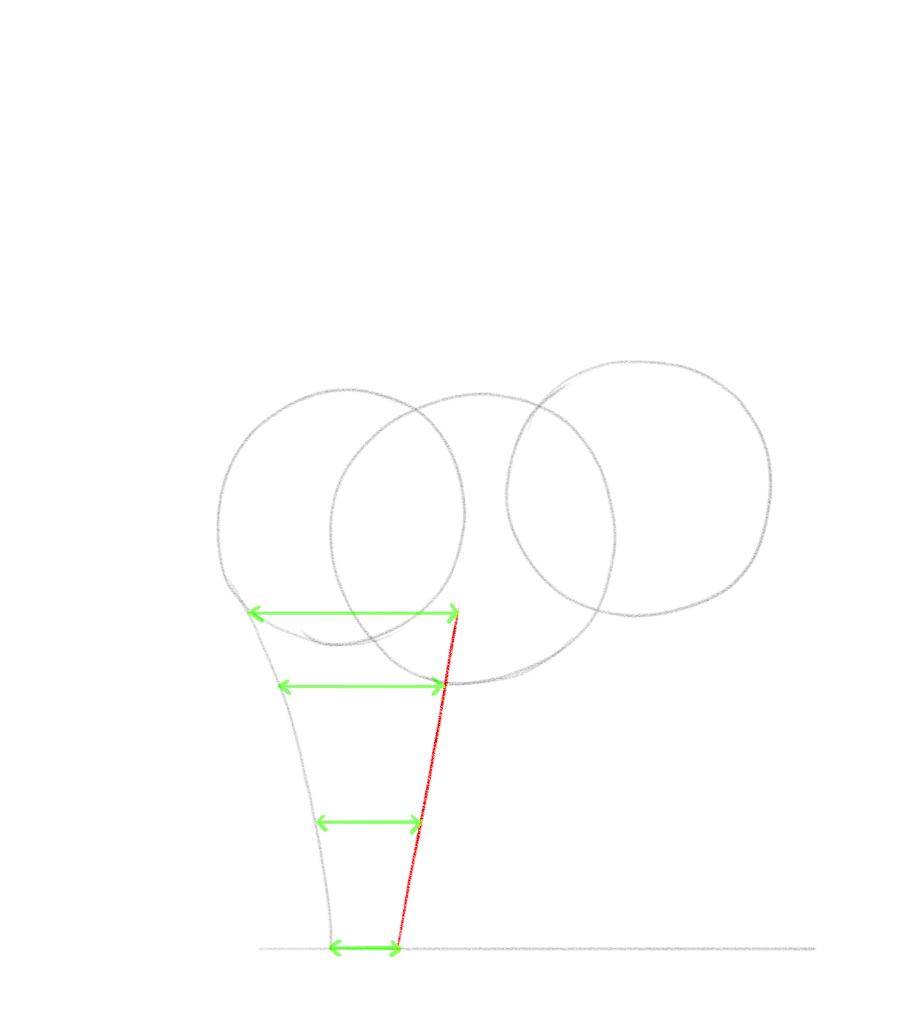 Draw a straight line on the right