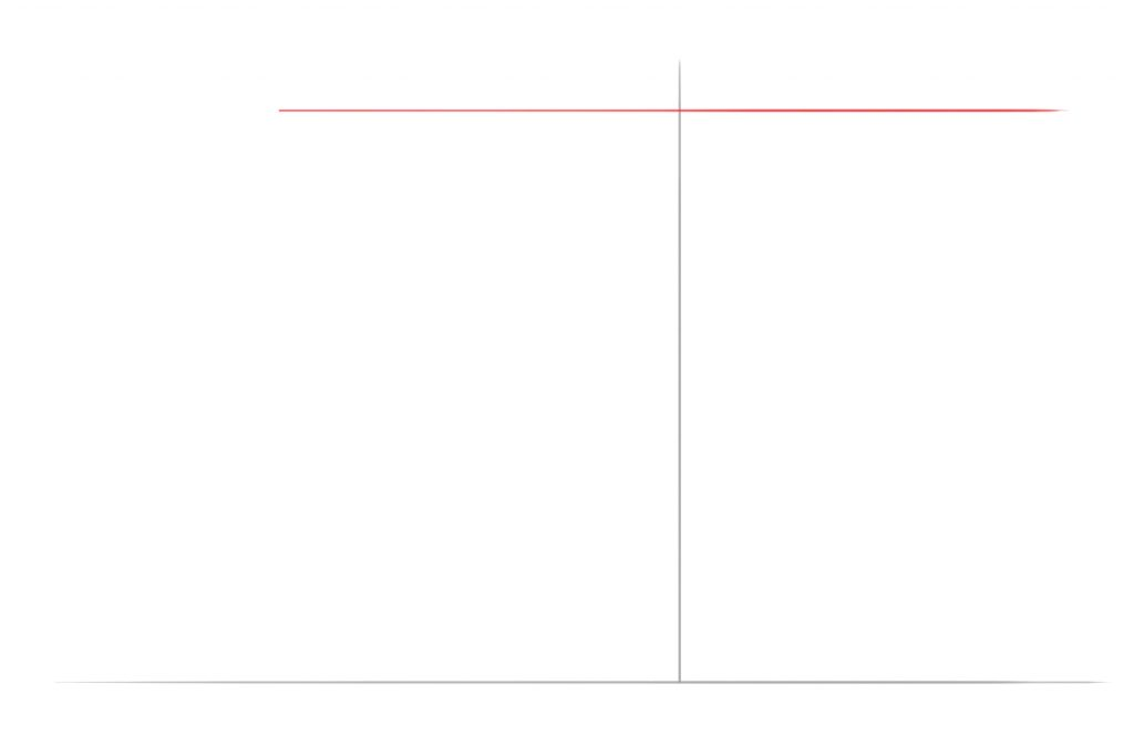 Draw A Horizontal Line Above The Vertical Line