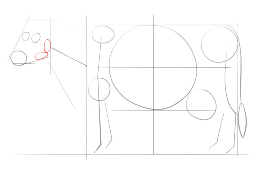 Draw Two Small Ovals