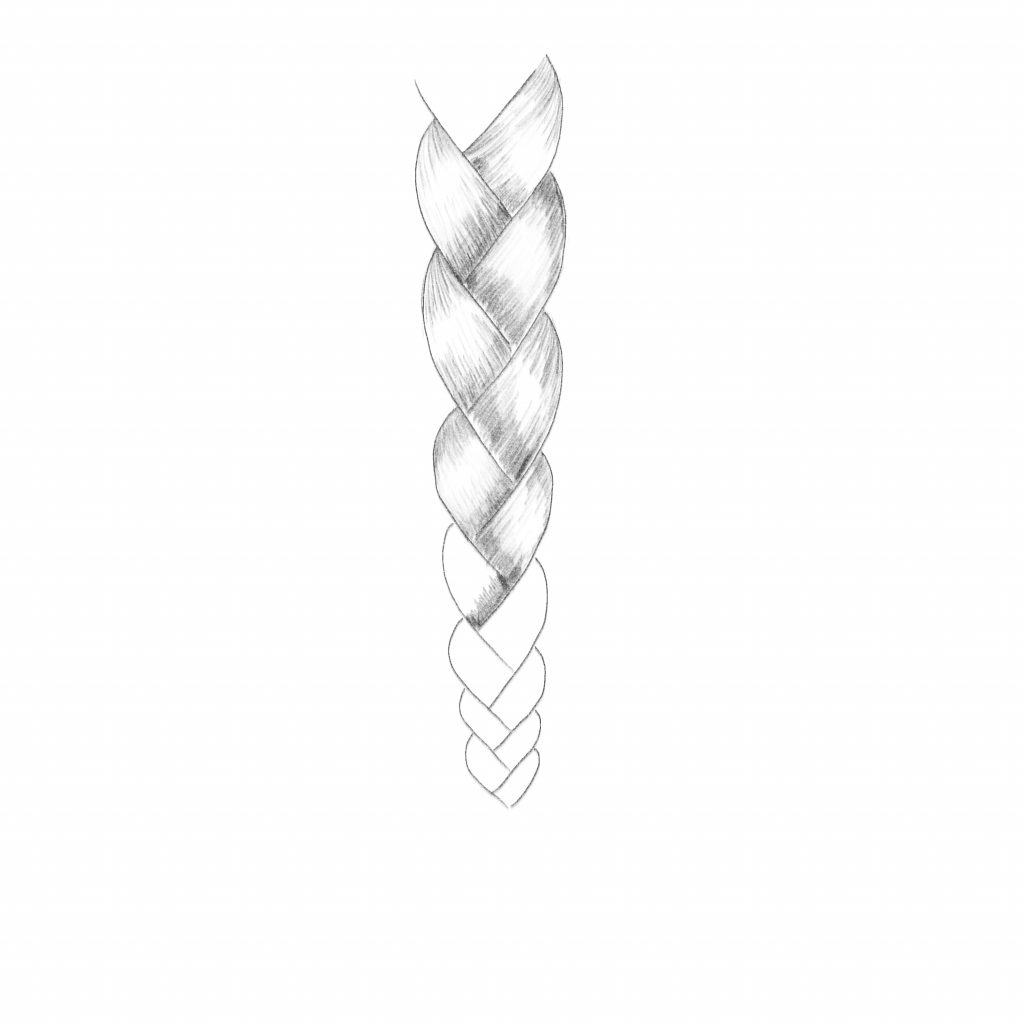 Color In The Segments Of Your Braid Drawing In Layers