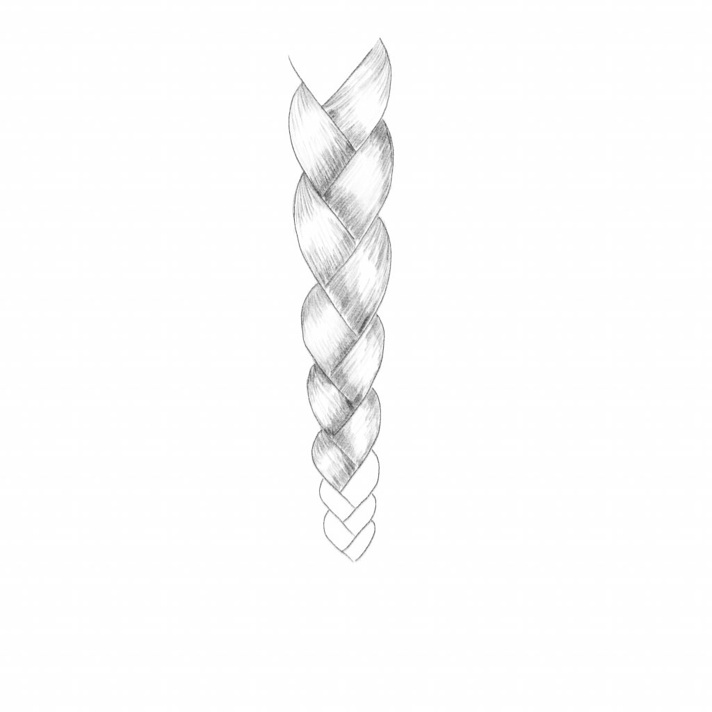 Continue Coloring The Braid Sections With Shading