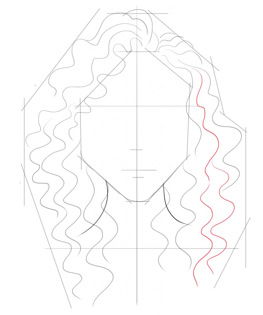 Fill the gaps of your curly hair