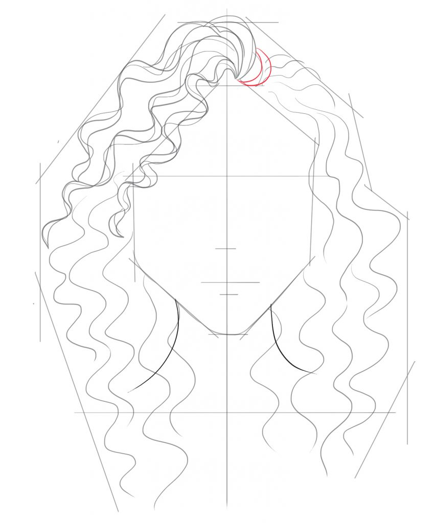Start drawing some circular arching lines