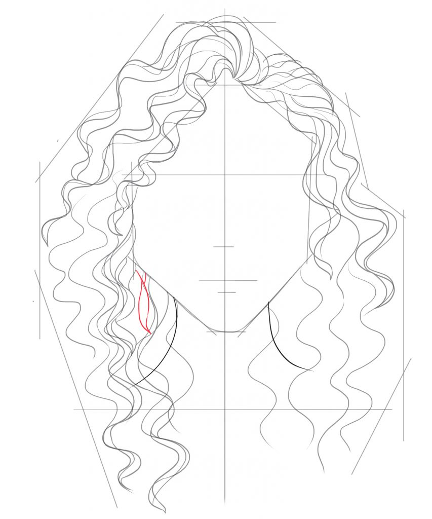 Fill in the gaps with smaller strands of hair