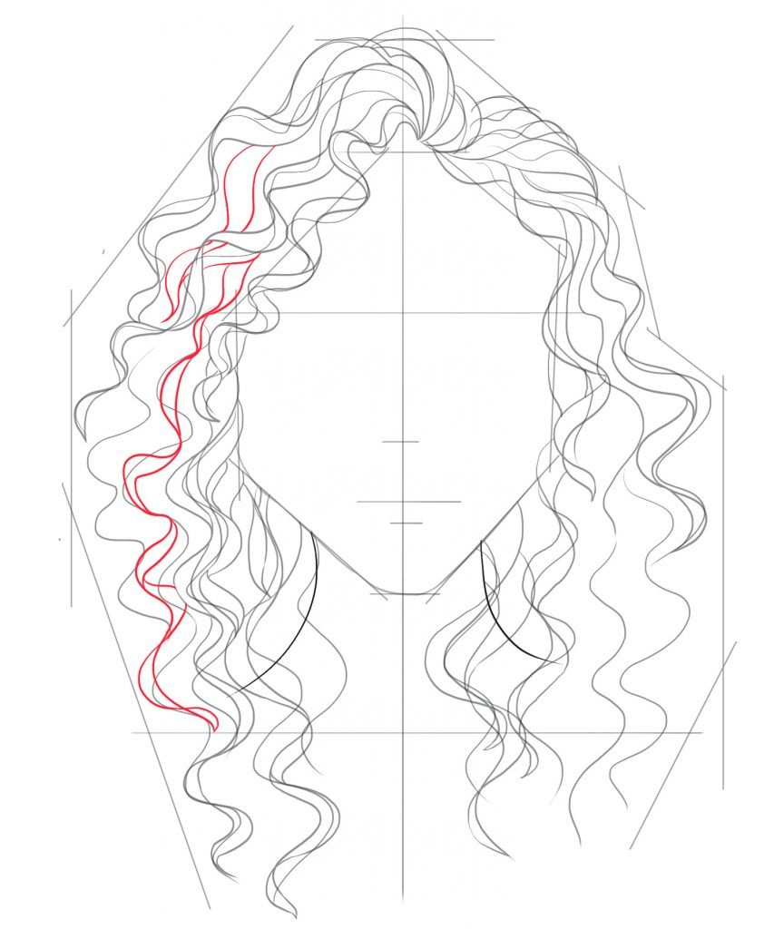 Draw more hairs in between the existing lines