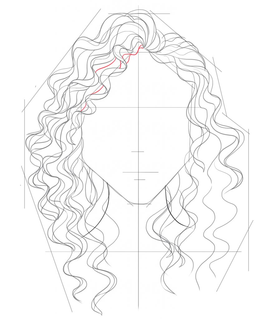Alternate between drawing lines with shallow curves