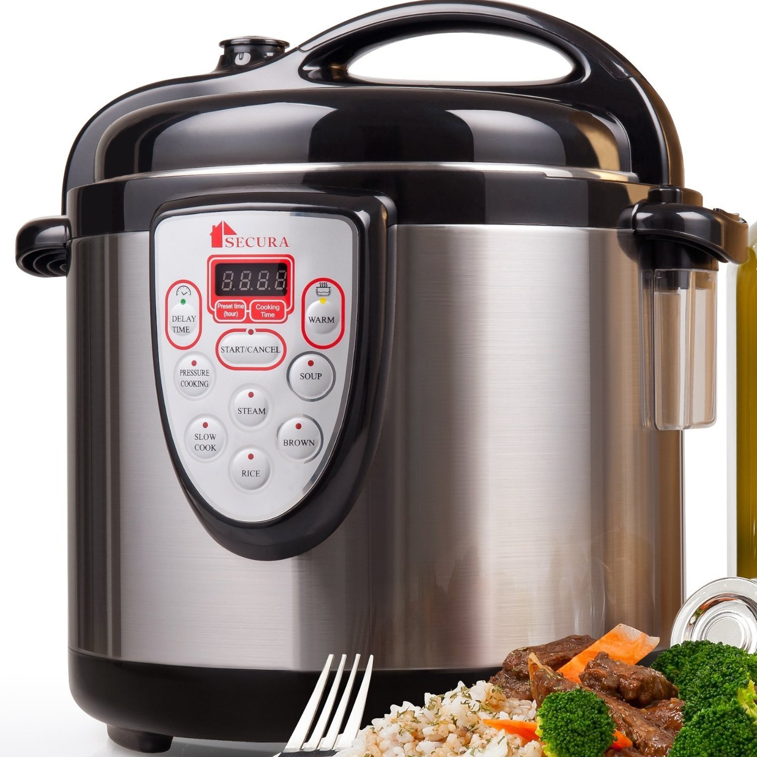Secura 6-in-1 Programmable Electric Pressure Cooker