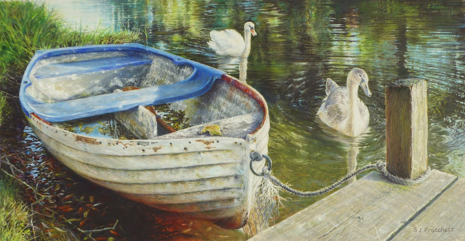 'Mooring on the River Bure at Buxton Mill'