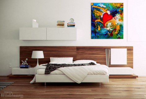 Design canvas in the bedroom