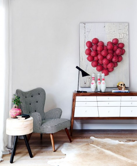 Beautiful canvas print with heart