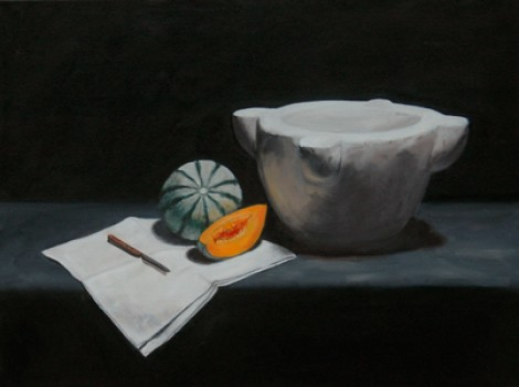 Melon with bowl