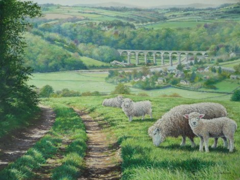 'Spring, Overlooking the Calstock Viaduct'