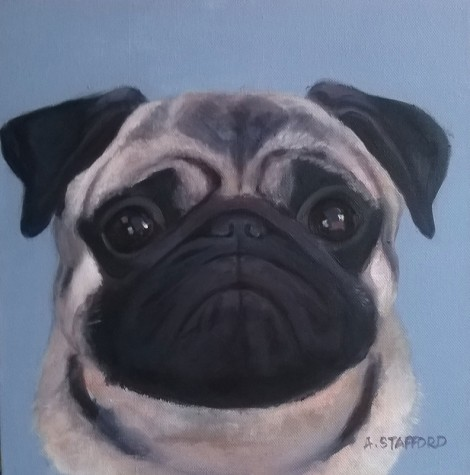 P is for Pug Charlie