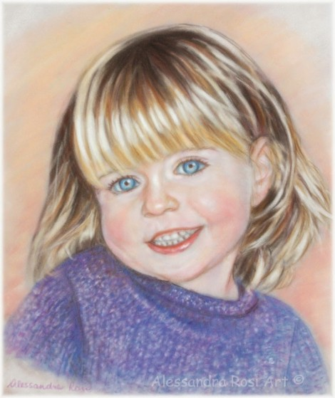 Child Portrait - Pastel Painting