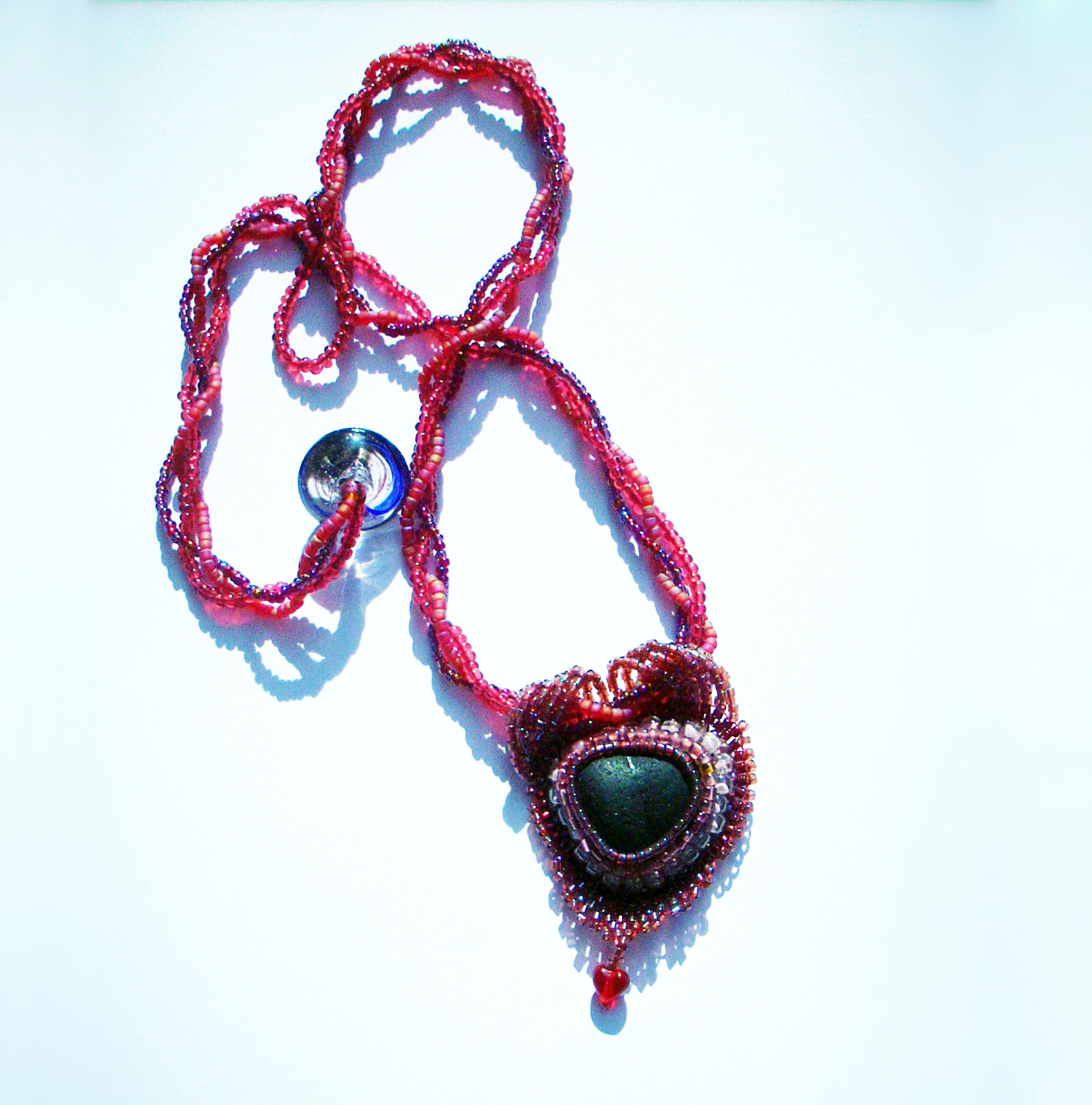 Baroque Red Heart Necklace