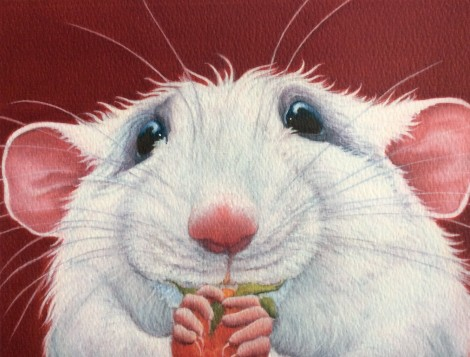 Kevin the rat painting