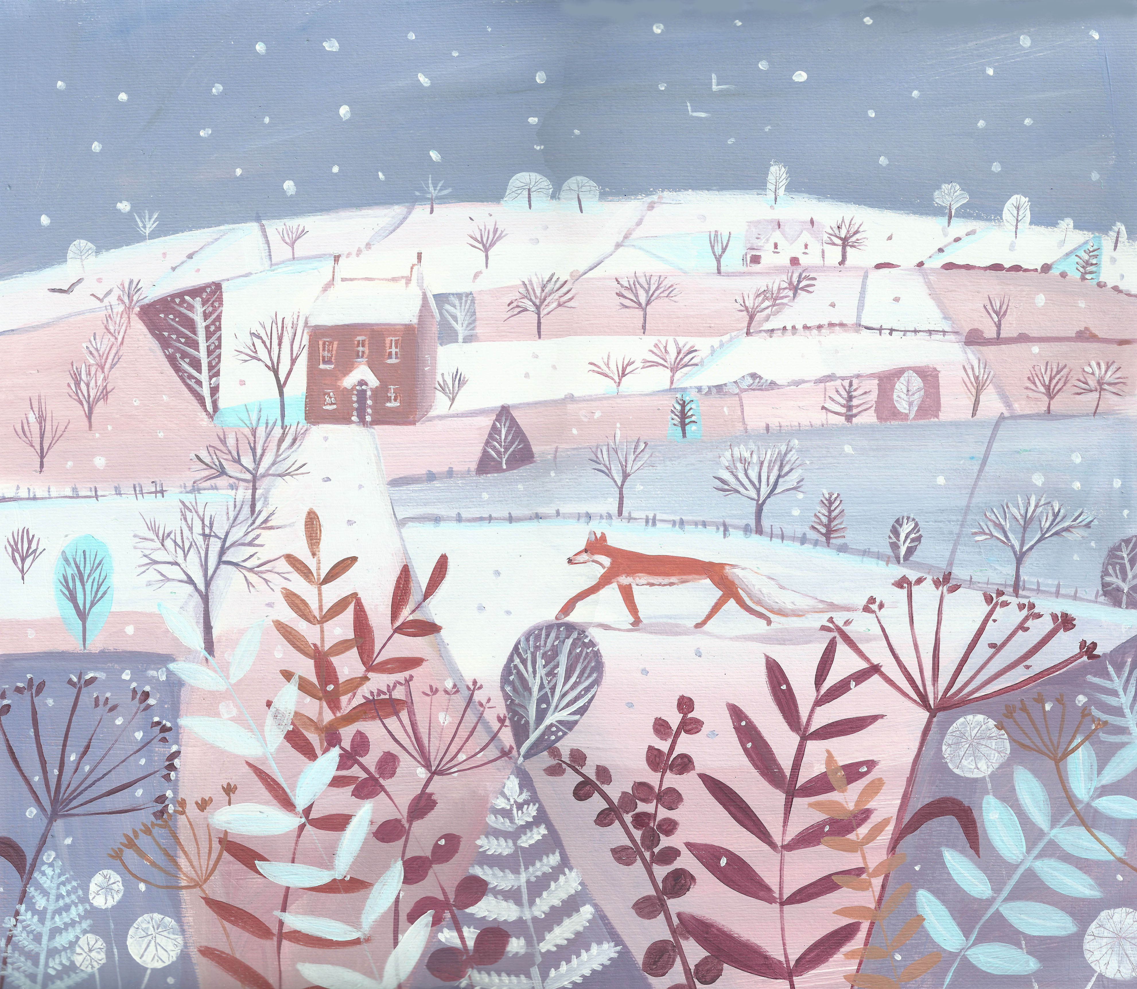 Winterscape with Fox