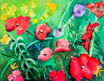 Poppies and Friends