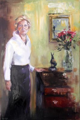 Mary in the drawing room