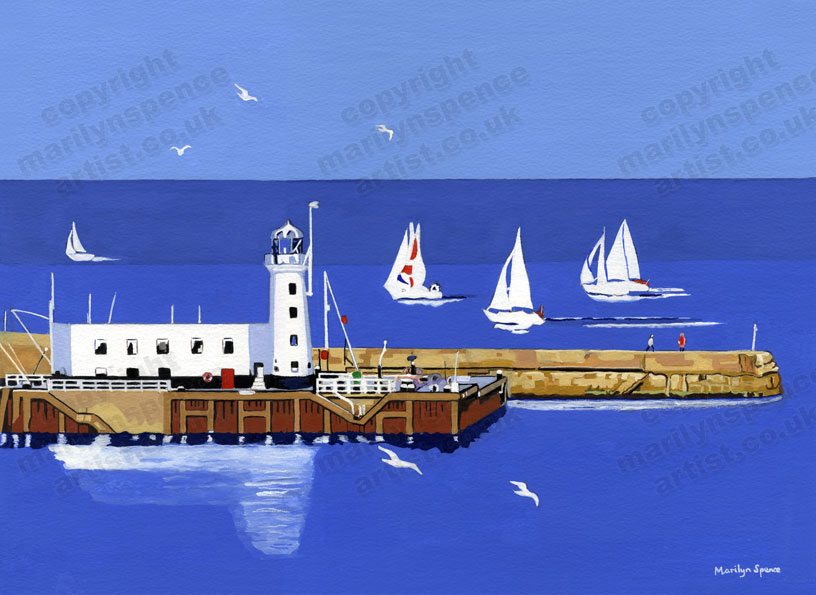 Yacht Race Scarborough - original sold but prints and canvases available