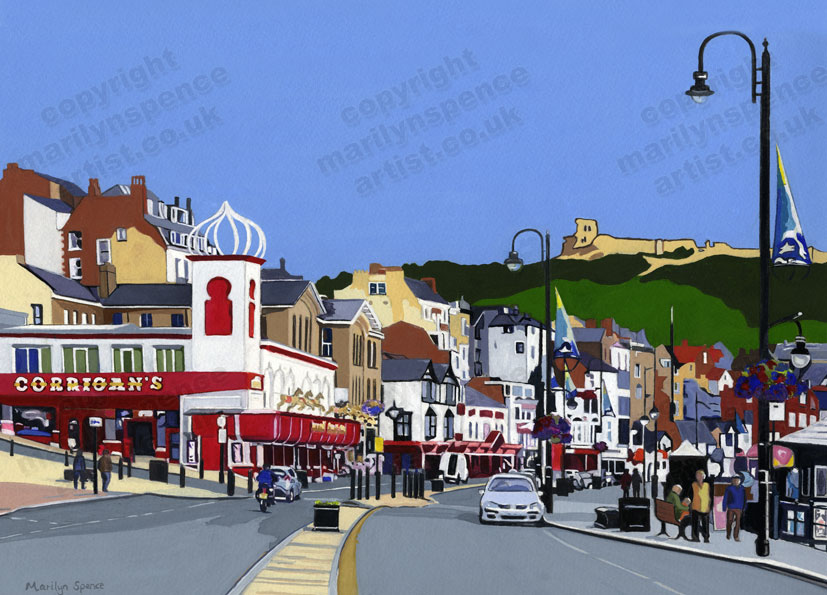 Scarborough Foreshore - original sold but prints and canvases available