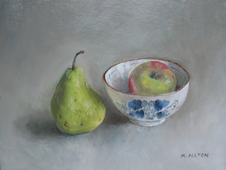 Pear, Apple and Rice Bowl