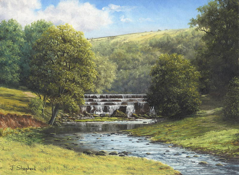 Monsal Dale Waterfall, Derbyshire