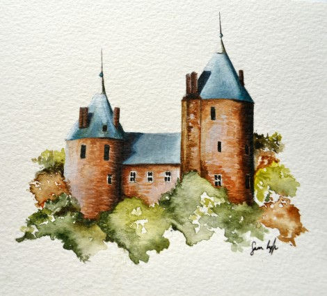 A pretty little illustration of the castle