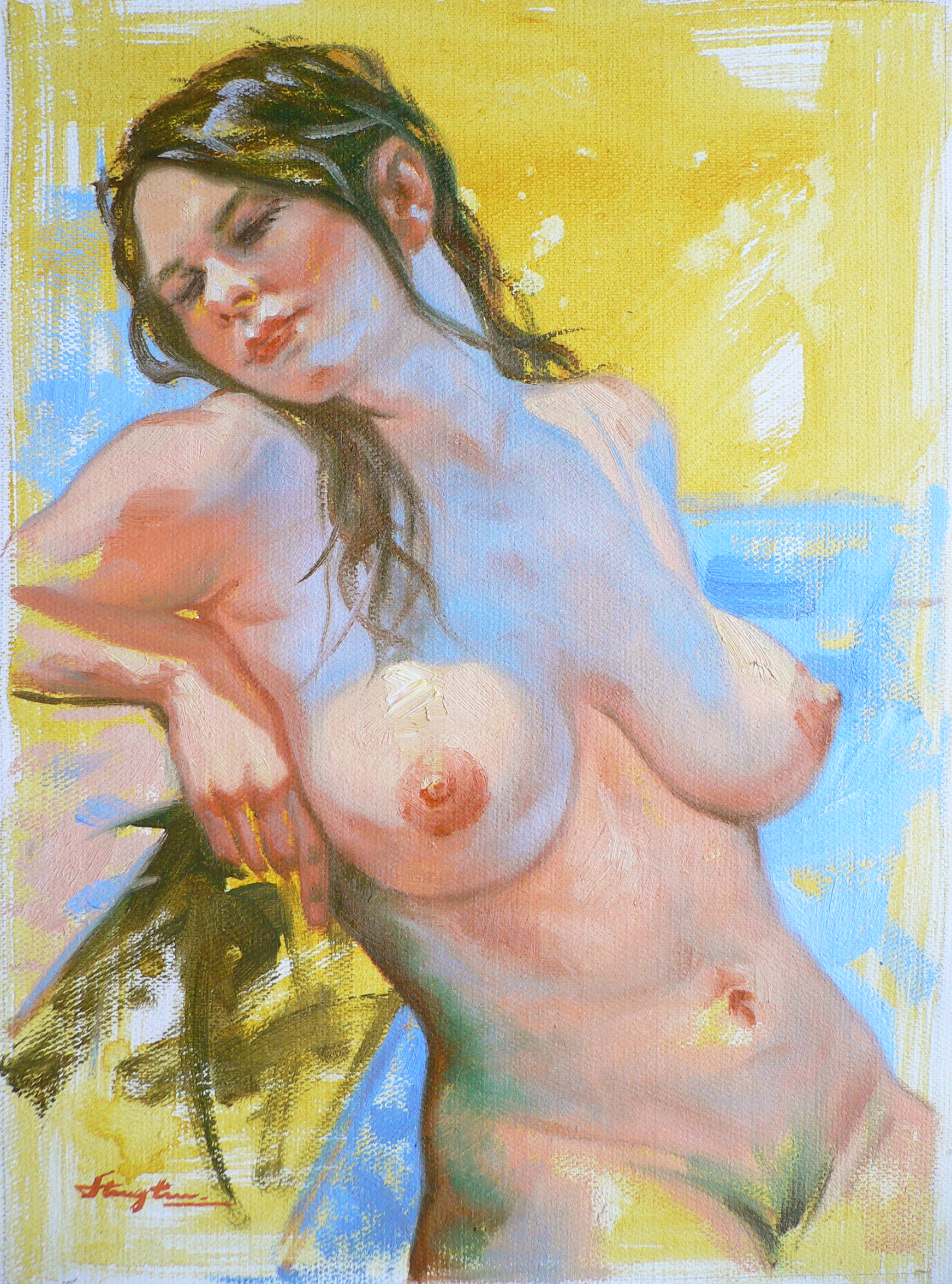Oil painting Female nude women #010