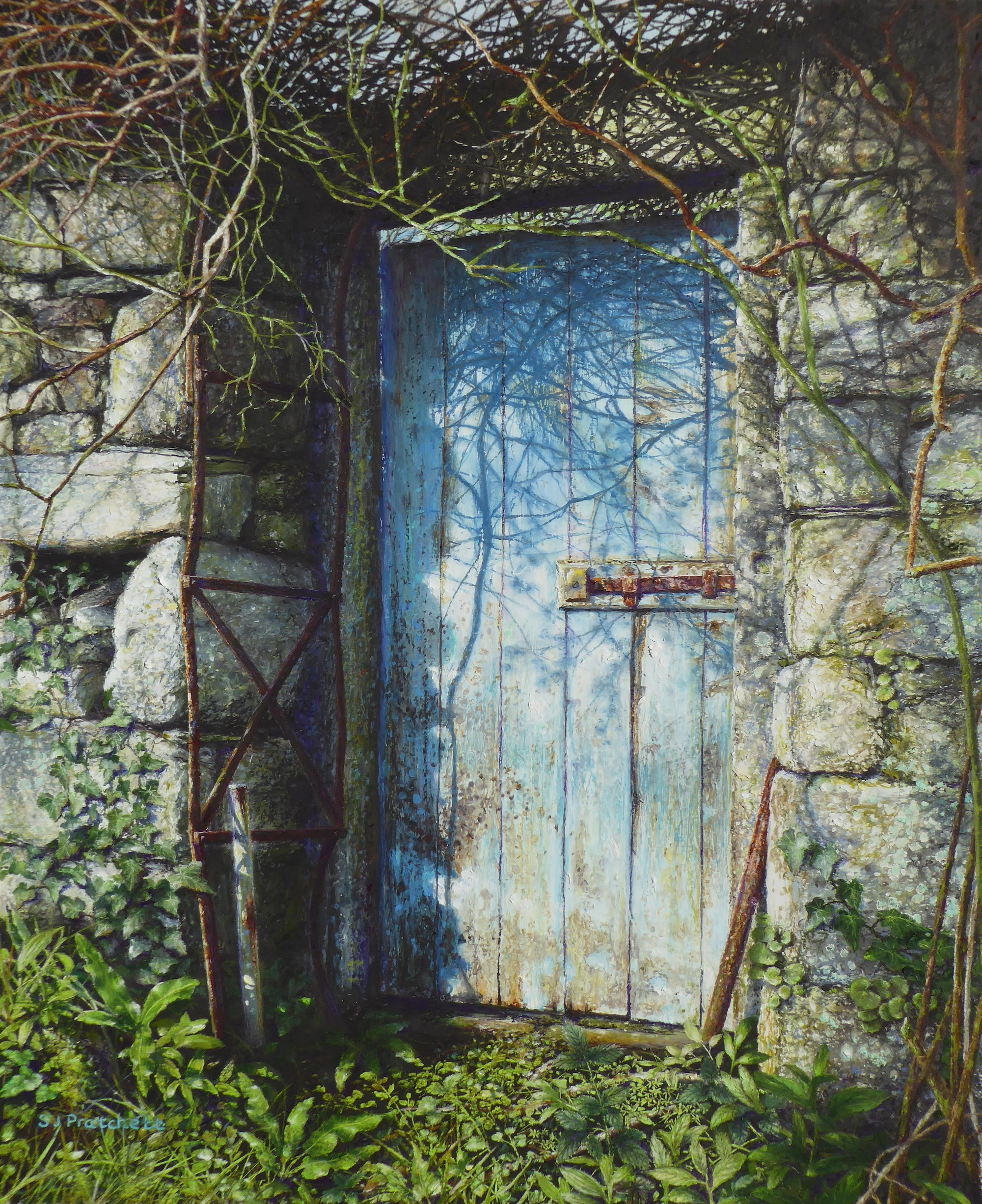 'Blue Gate to the Walled Garden'
