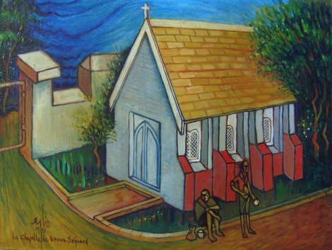 047, La chapelle de Brown Sequard, Jan 1996, oil on canvas, 55x38cm