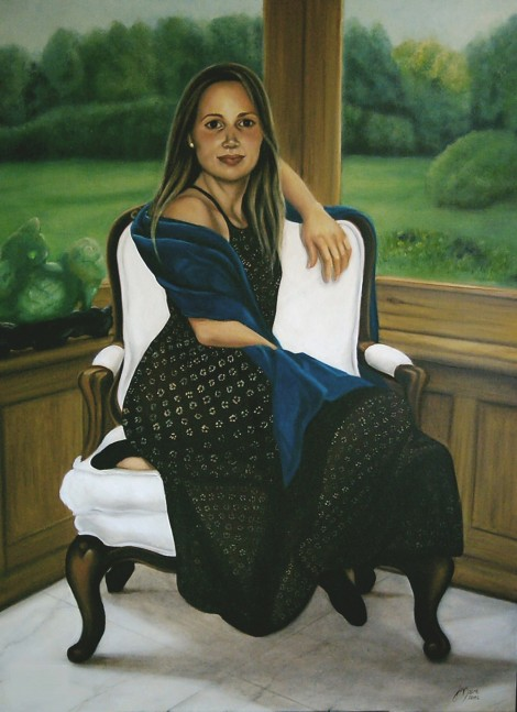 One Person Portrait - Oil on Canvas