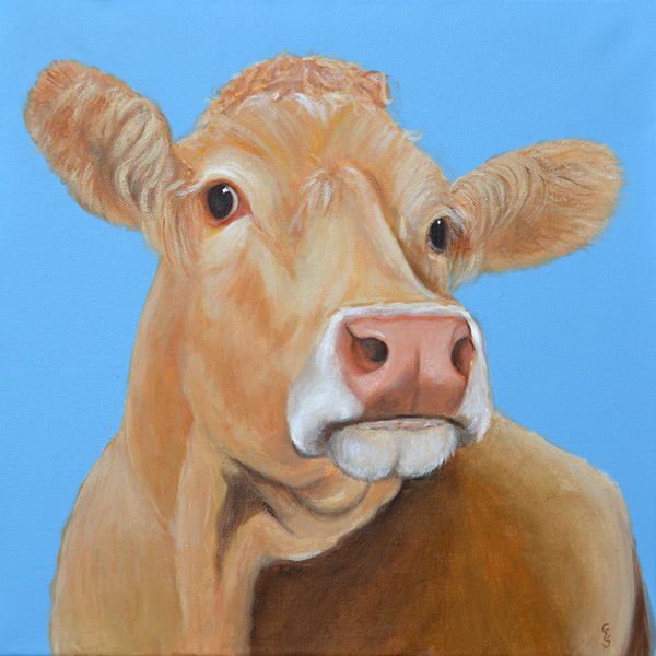 Cow and blue sky 2