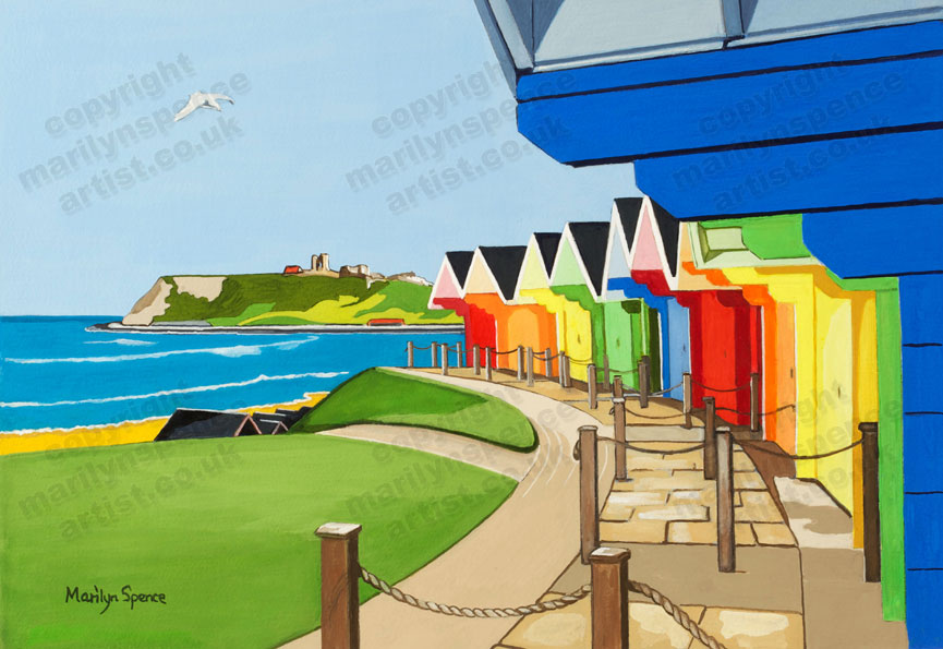 North Bay Challets - Scarborough - original sold but prints and canvases available