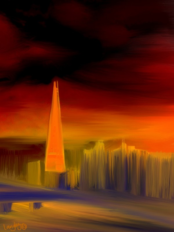 The Shard in Red