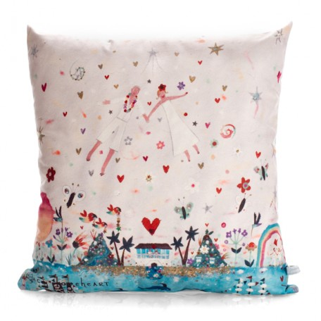 You  Me in Paradise Cushion