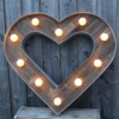 Board Walk Heart Light