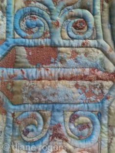 Michelham Priory Gate - Printedquilted silk embroidered textile