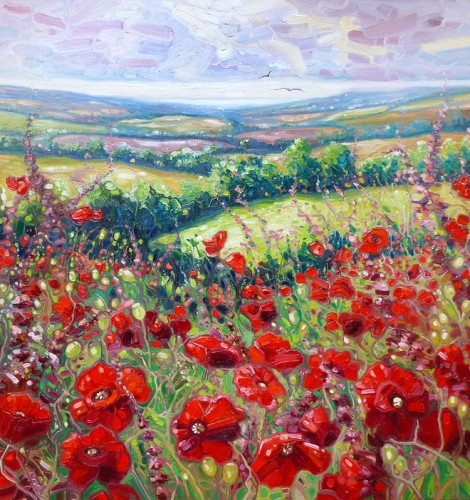 Summer Poppies In A Sussex Meadow