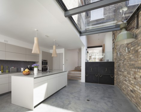 Complete renovation refurbishment and extension of an Edwardian house