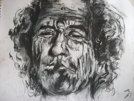 Keith Richards - Print and original available 40 x 31 cms