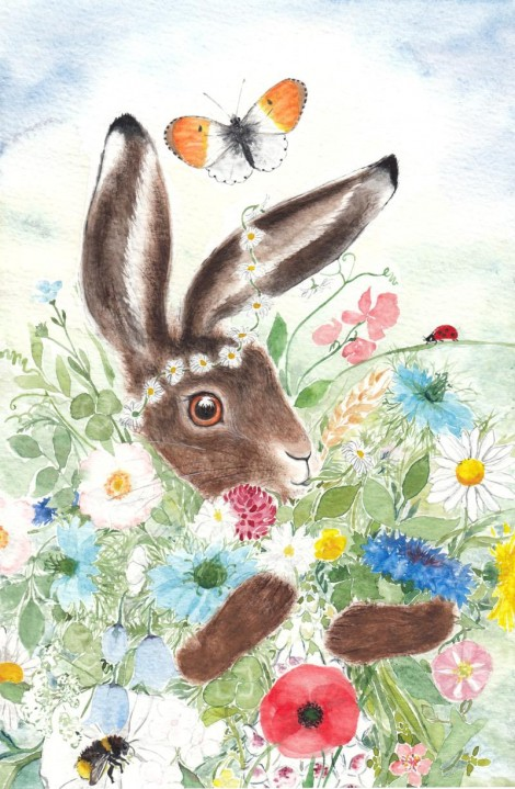Hare and Flowers