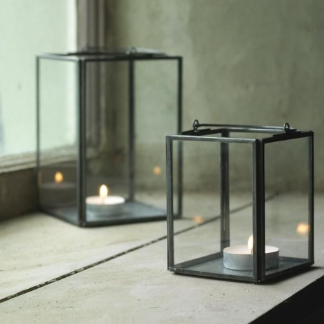 Set of 2 Zinc Box Lanterns