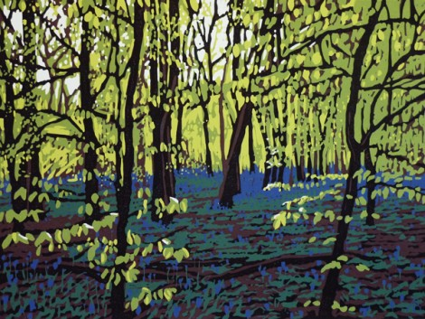 Bluebells on a Bright Day