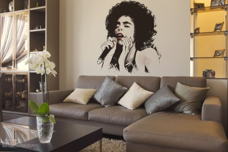 Black Beautiful Voice Wall Decals