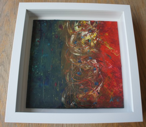 Play of colours framed 25x25x45cm frame