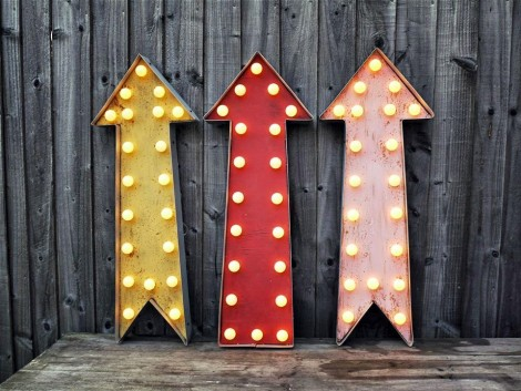 Neon Marquee Arrow Light