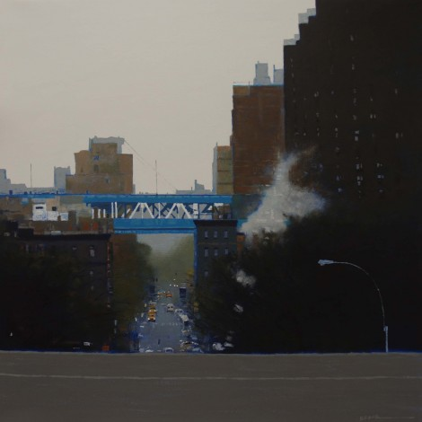 Misty Manhattan  Acrylic on canvas  28ins x 28ins