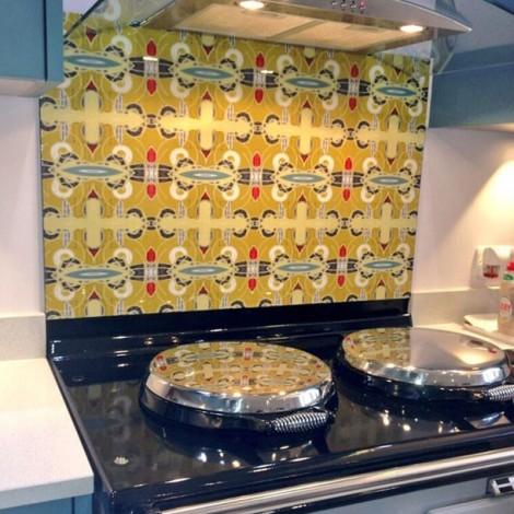 Funky Abstract design on splashback by ATADesigns